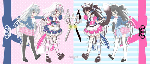 [CLOSED] Magical Girl Adoptable Auction #4 by mintycatart