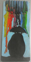 Rainbow Rain Totoro by Rompercors