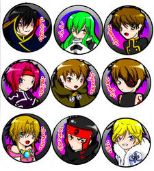 Code Geass and Tsubasa Pins by SaetonChapelle