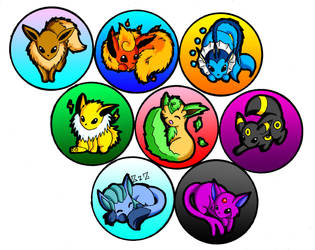 Eevee Pins by SaetonChapelle
