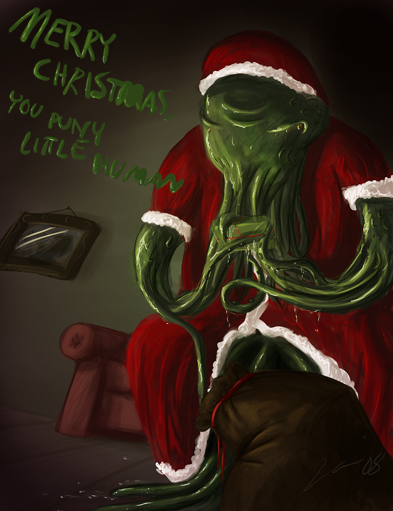 DSG 1439: Seasonal/Lovecraftian • CTHULHU STANDS IN FOR SANTA CLAUS