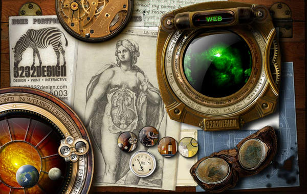 3232design steampunk wallpaper by 3232design