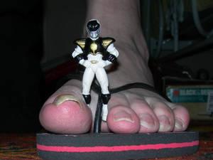 Power ranger in a flip flop
