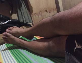 A guys feet relaxing