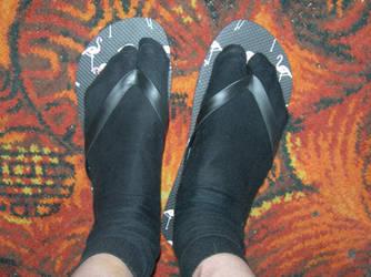 Socks in flip flops