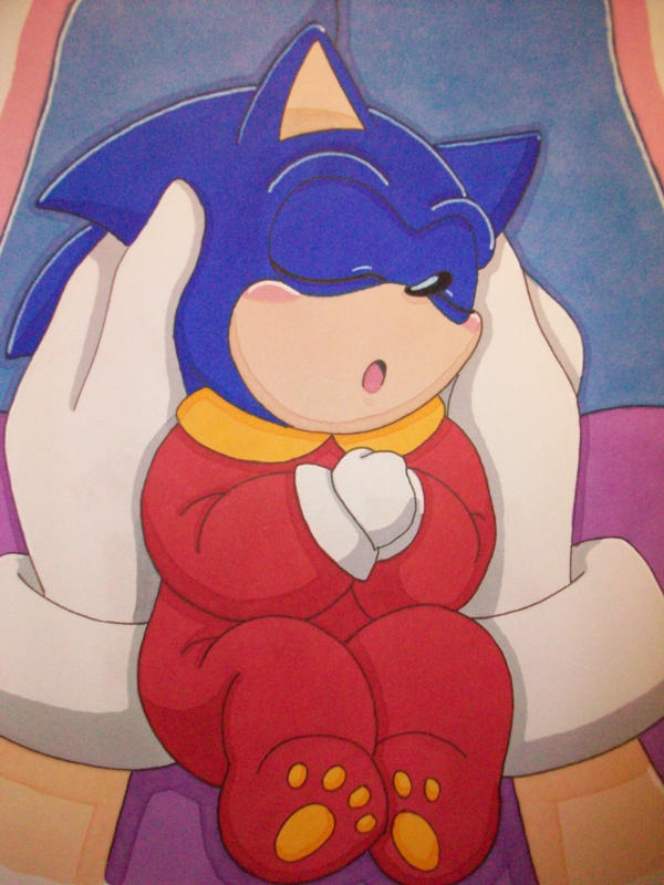 Baby Sonic And Bernadette By Azumiangel On Deviantart