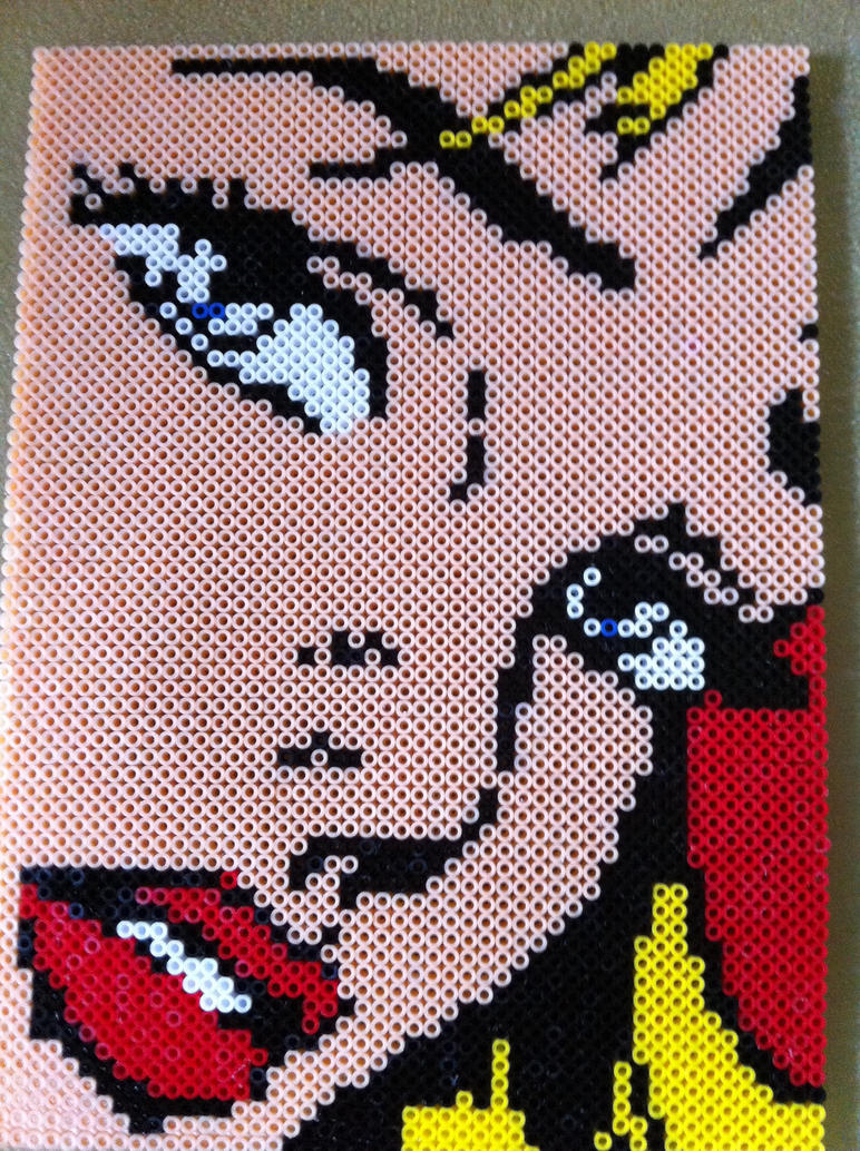 Lichtenstein perler by 8bitesh on deviantart - Hama beads cuadros ...