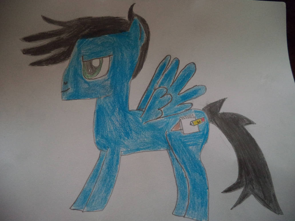 my pony OC (Name:drawing pad)