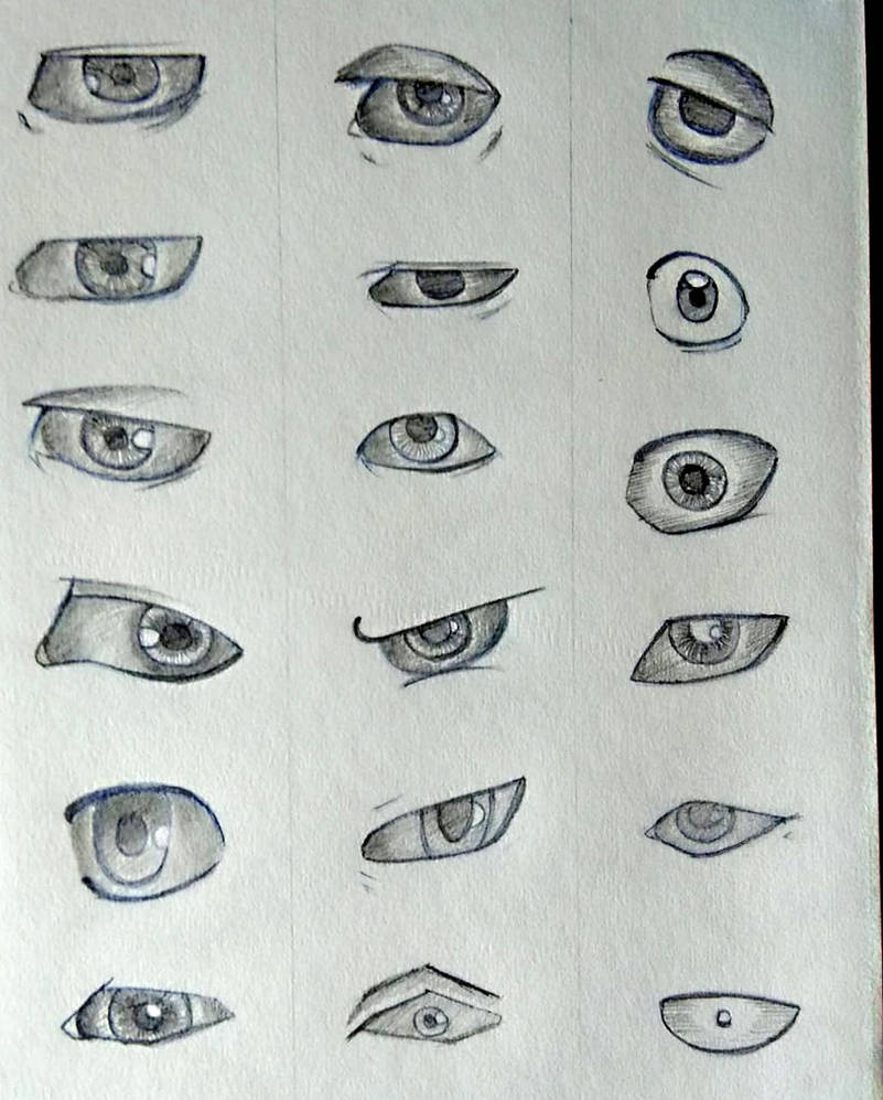 Eye Drawing Exercises - 1 by zatende