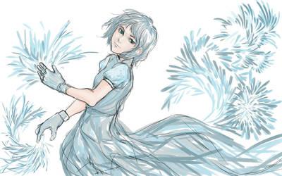 she can make some ice flower lol by leekayi