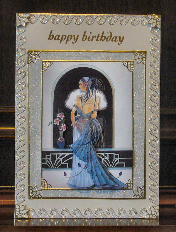 Art Deco Birthday Card By Blackrose1959