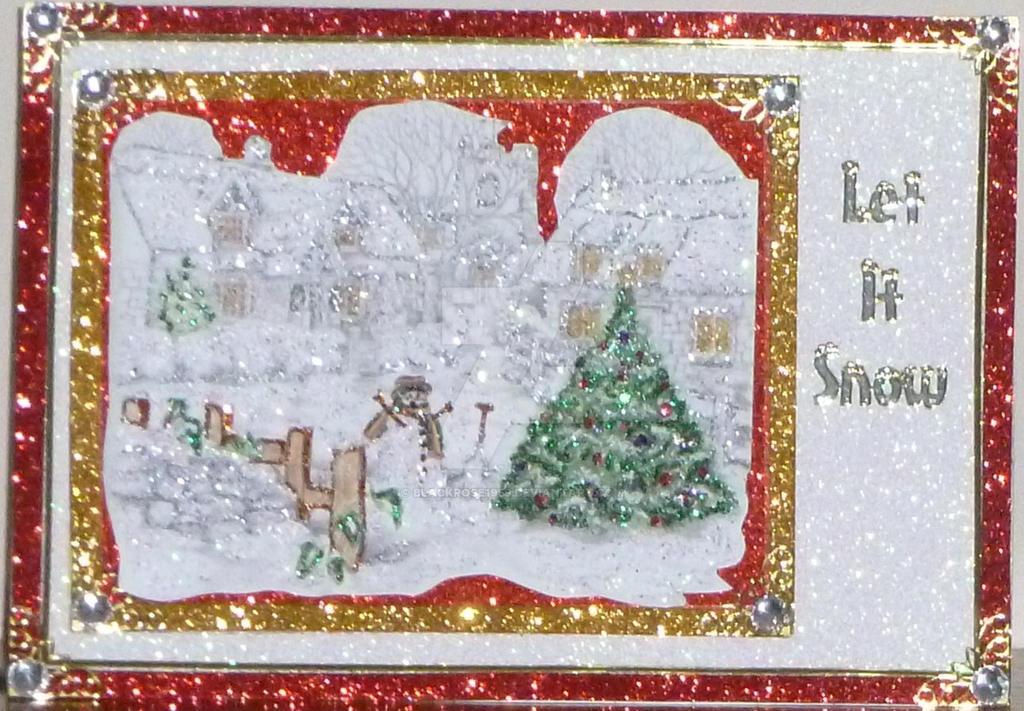A Snowy Xmas Scene by blackrose1959