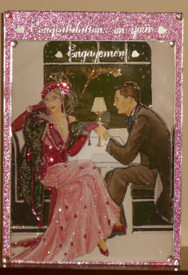 Engagement Card for Sis Jane and Terry by blackrose1959