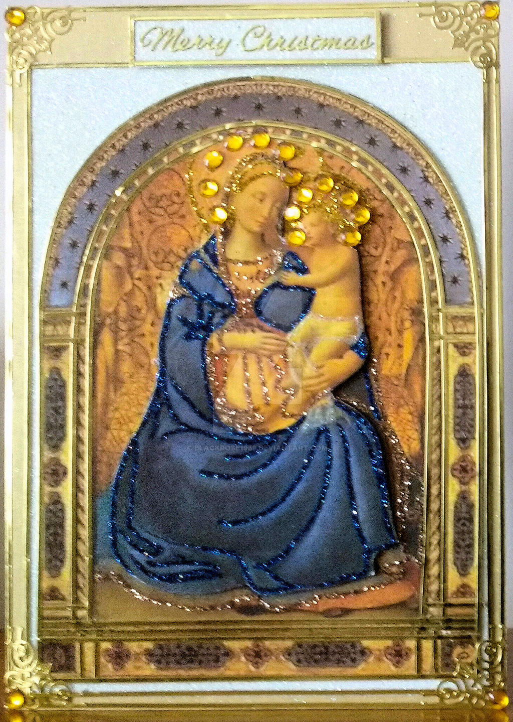 Mary and Jesus Xmas Card for Lynne