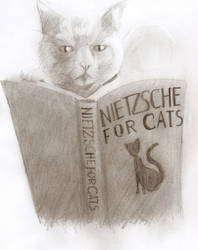 Nietzsche for cats by Satanoy