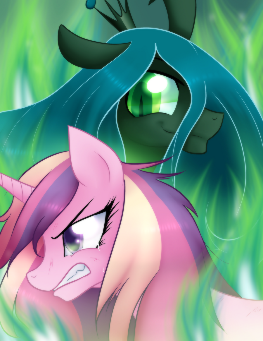 Cadence vs Chrysalis by MylittleSheepy