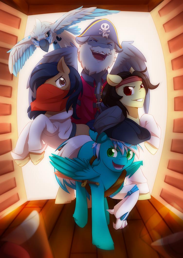 Comm: Pony Pirates by MylittleSheepy