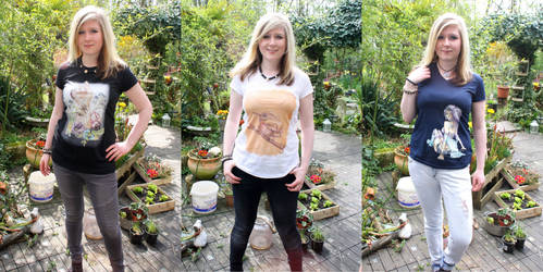 Here are some of my drawings as Shirts! :D by Listenes