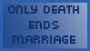 Stamp - Only death ends marriage by stefanbauwens