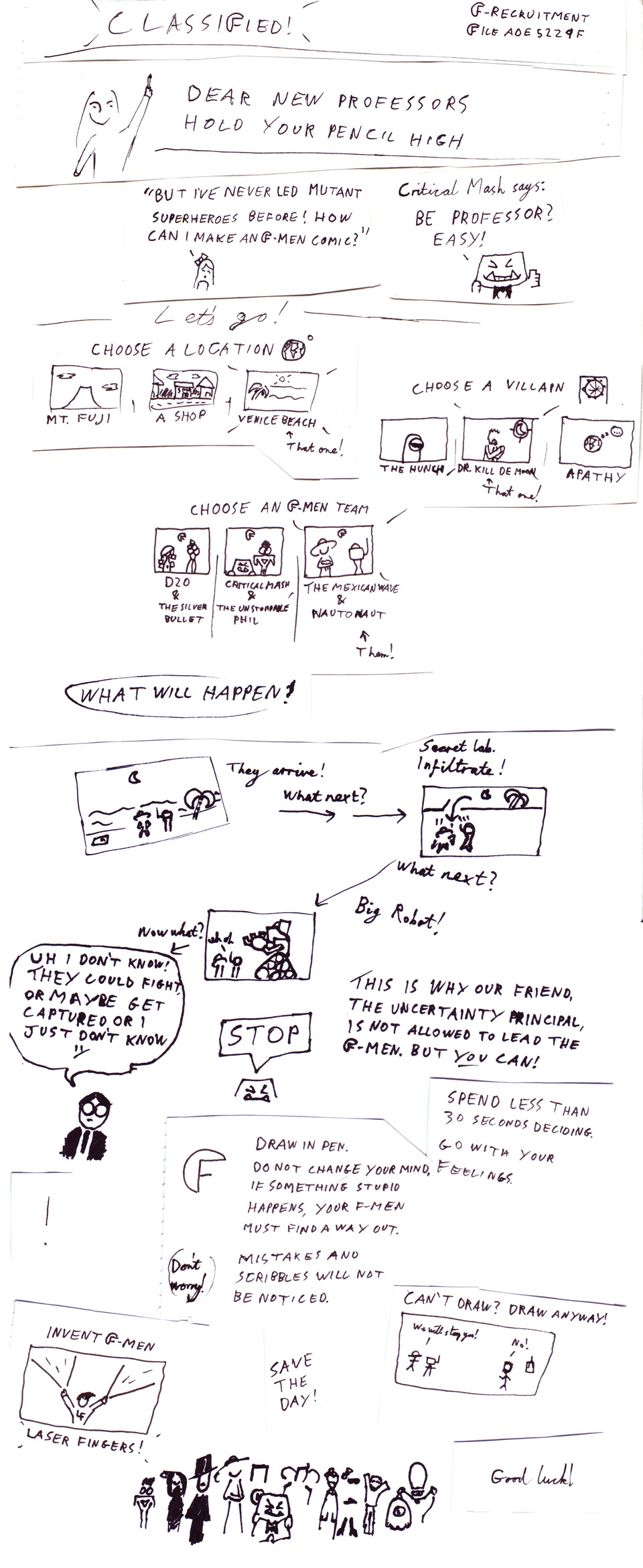How to Make an F-Men Comic by Pachunka