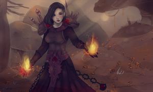 Warlock girl on plaguelands by ipheli