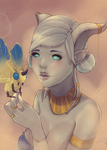 A draenei and her moth