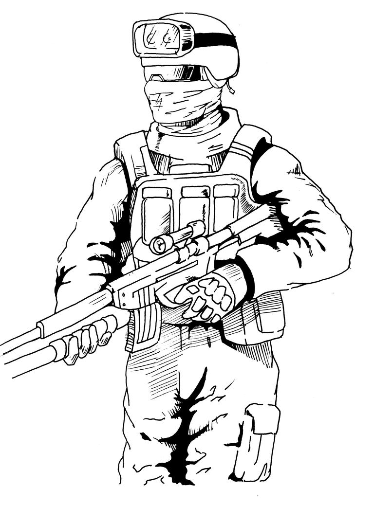 Call Of Duty 2 Ghost - Free Coloring Pages