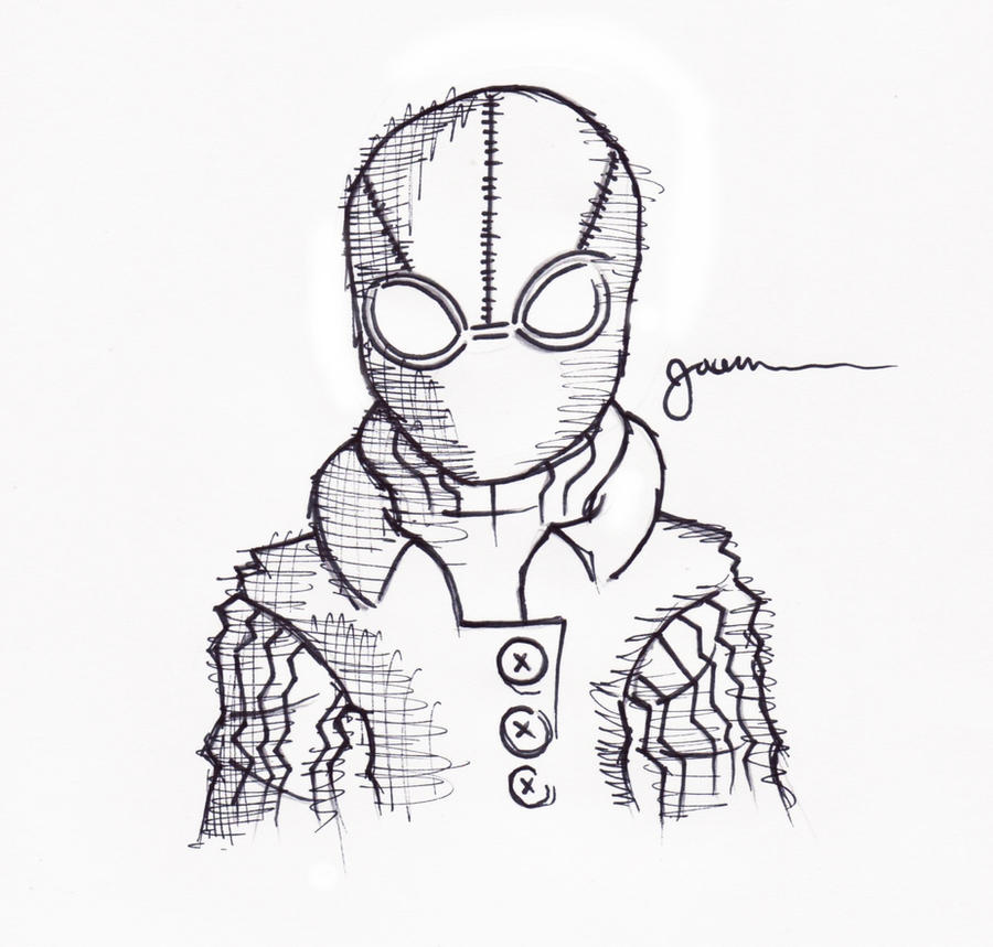 spiderman drawing pencil