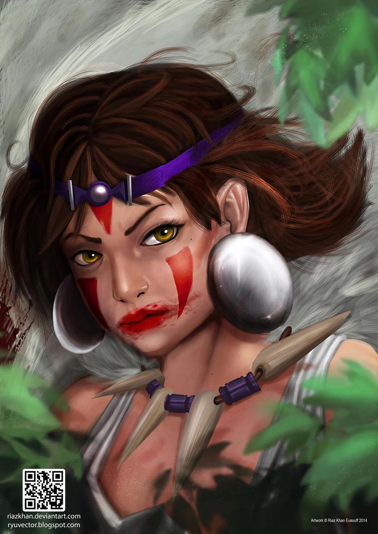 Princess Mononoke Fan Art by riazkhan
