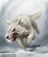 Winter Eternal FROST-WOLF by riazkhan
