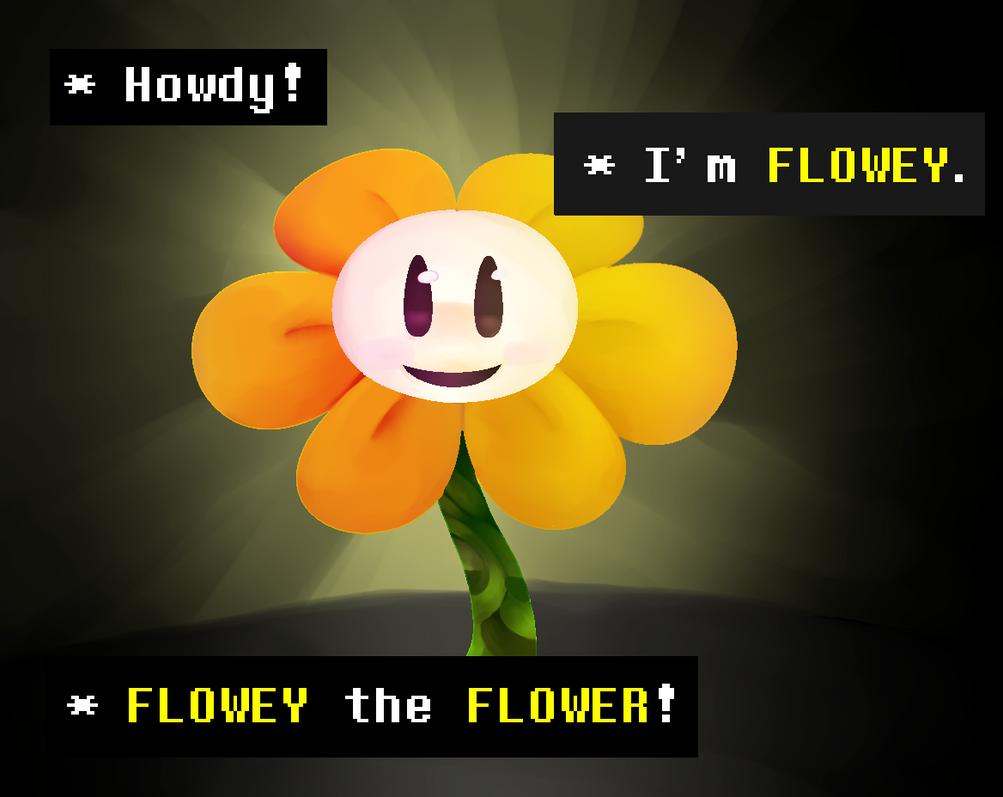 Flowey the Flower by lillymagic