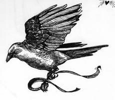 Blackbird Tattoo by Painted-Stars