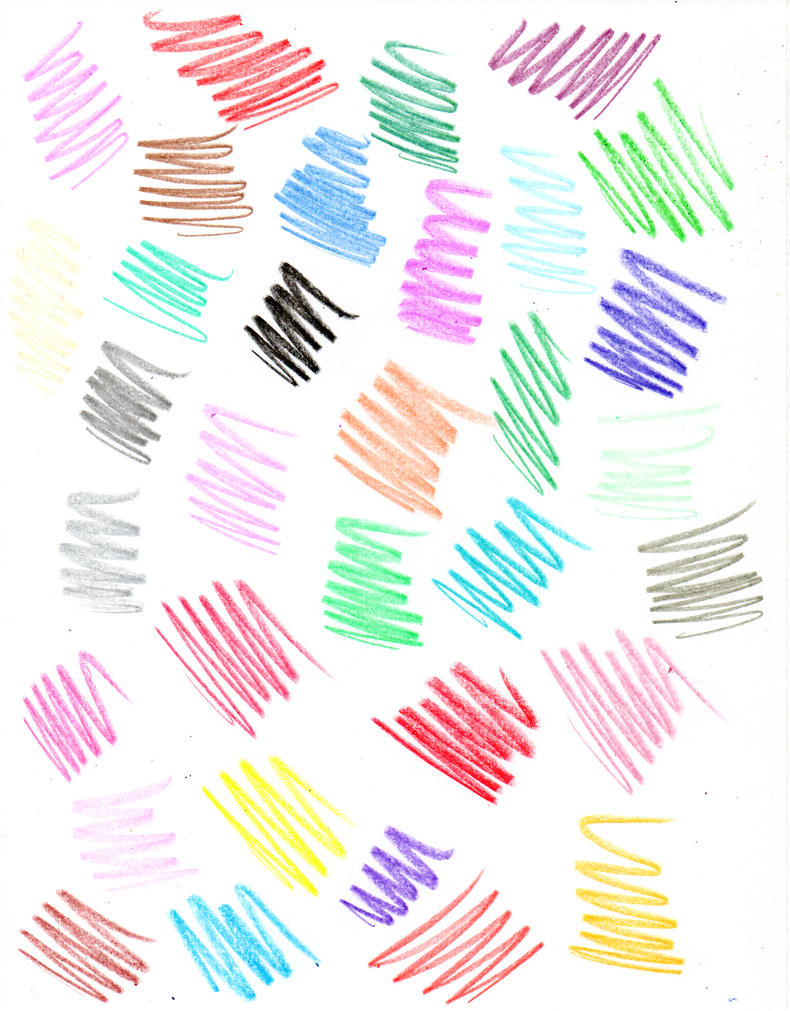 Crayon Scribble Drawing : Colour scribbles by zeds stock on deviantart