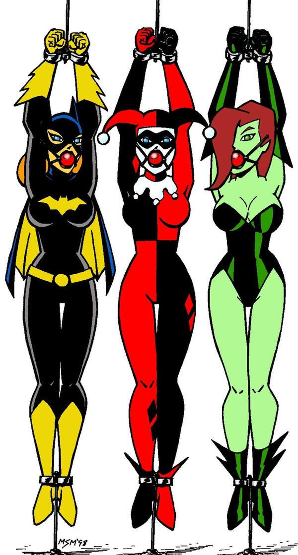 Gotham Girls in Bondage by RedSpider2008