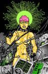 Cythnia the Cyberpunk Goddess