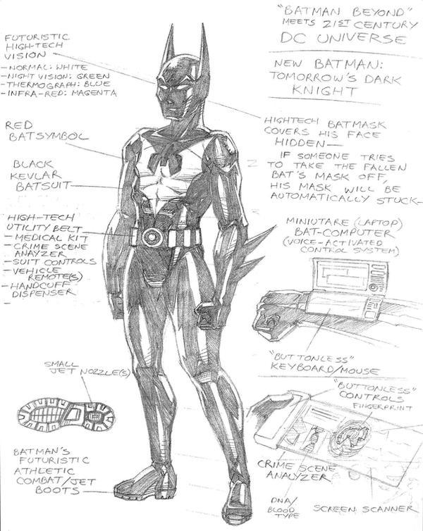 Batman Beyond Sketch By RedSpider2008 On DeviantArt