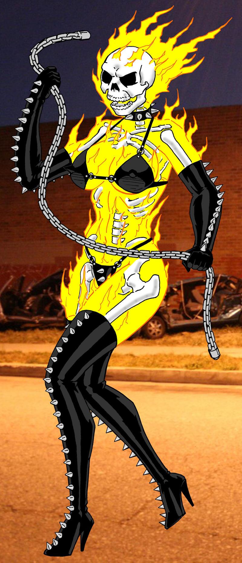 Female Ghost Rider by RedSpider2008