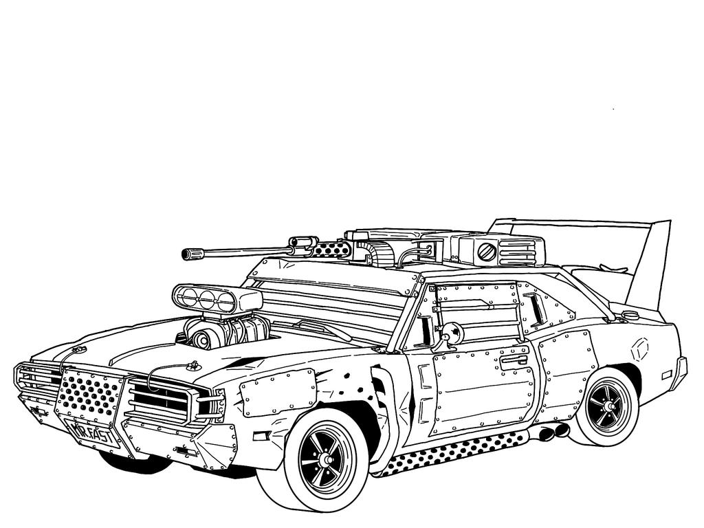 Post-Apocalyptic 1969 Dodge Charger R/T Diagram by RedSpider2008