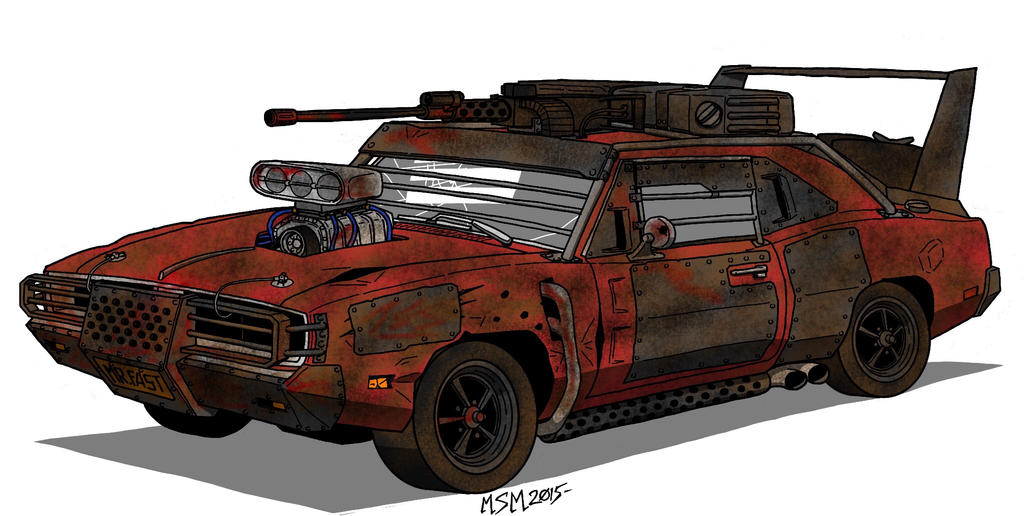 Post Apocalyptic Dodge Charger R/T first stage by RedSpider2008