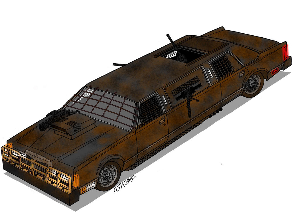 Post Apocalyptic Lincoln Town Limousine by RedSpider2008