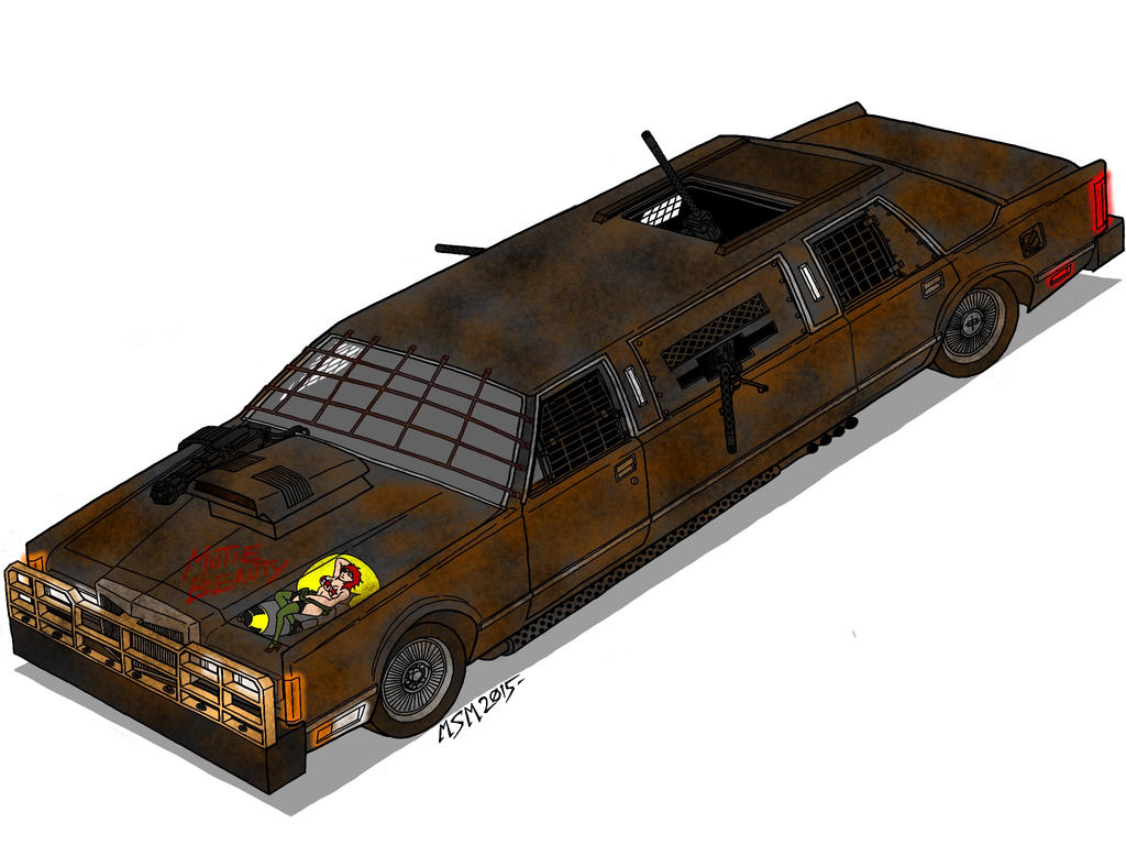 Post Apocalyptic Lincoln Town Limousine Final by RedSpider2008