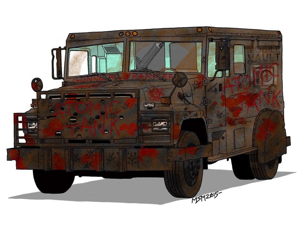 Post Apocayptic Ford F-700 Armored Truck by RedSpider2008