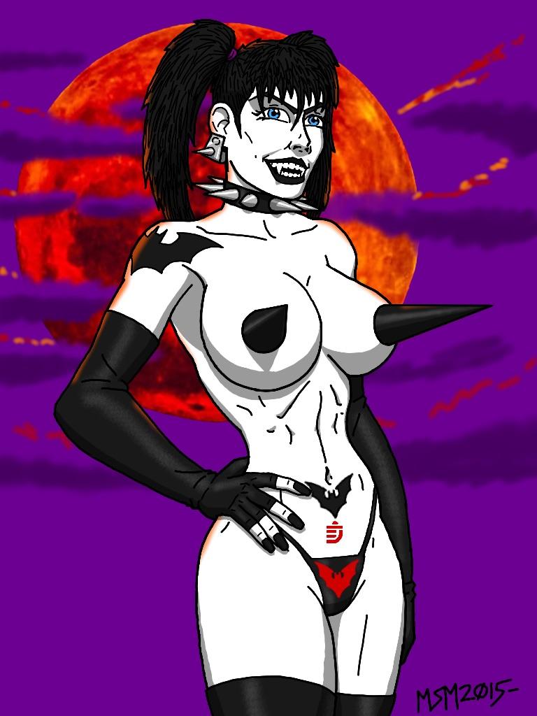 Gothic Punk Vampire Gal by RedSpider2008