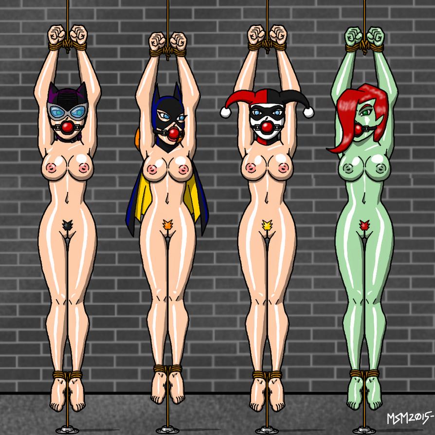 Gotham Girls Naked Bondage by RedSpider2008