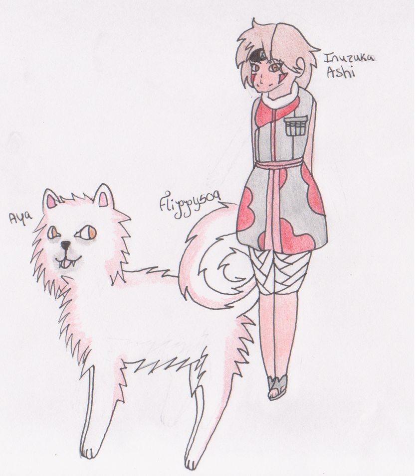Inuzuka Ashi and Aya by flippy509