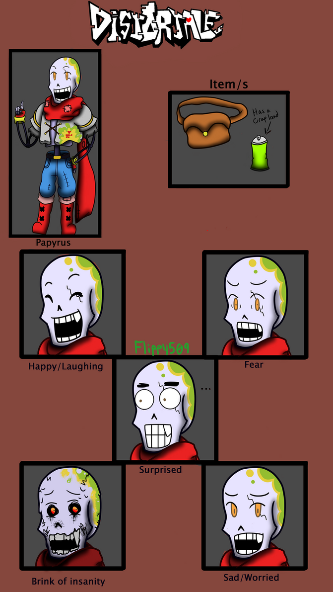 Distortale Papyrus Reference by flippy509