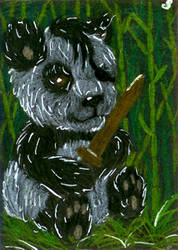 ACEO for soulful-purple-wolf