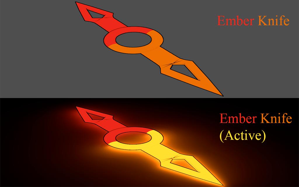 BLAK Weapons: Ember Knife by Accel-Phoenix