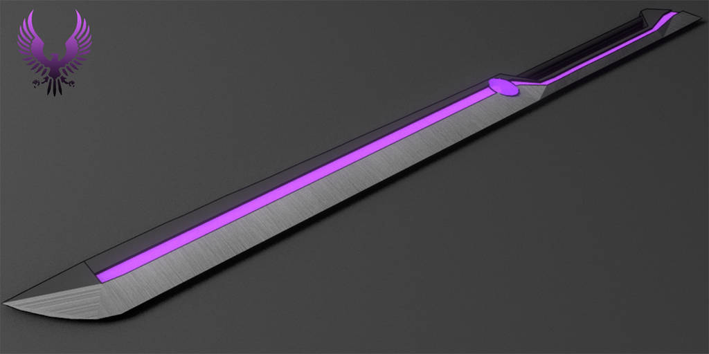 Hushed Charoite: The Fool's Divider (Third Blade) by Accel-Phoenix