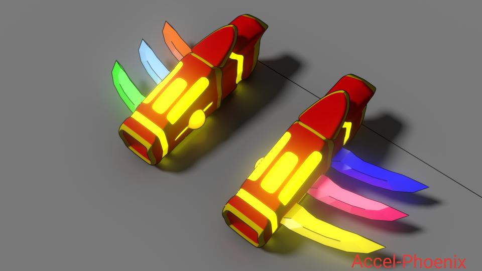 RWBY Weapon: Dust Gauntlets by Accel-Phoenix